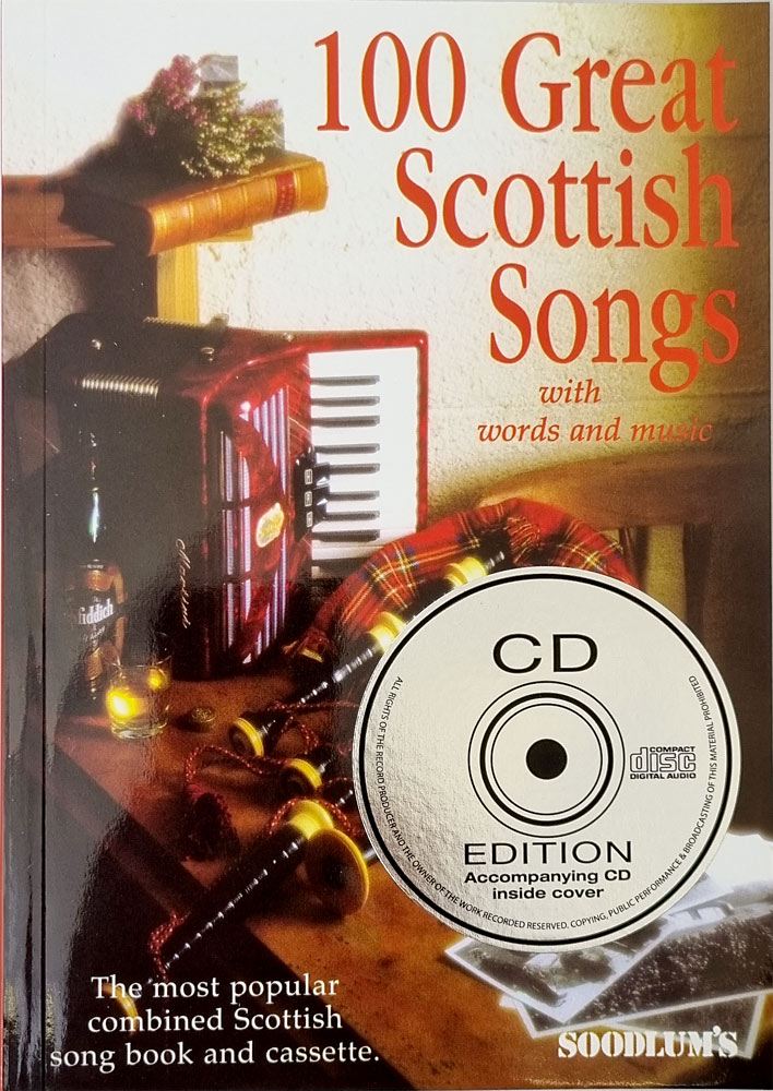 100 Great Scottish Songs Book & CD pack of 100 well known Scottish songs. The CD has short versions