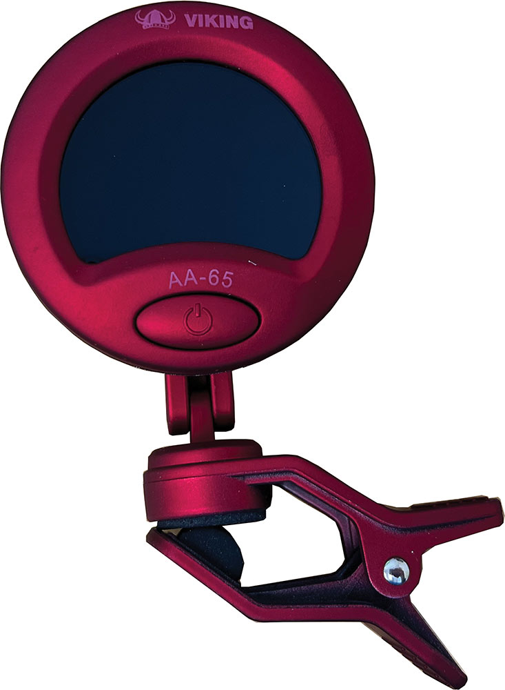 Viking Chromatic Clip On Tuner, Red Easy one button operated clip on tuner.