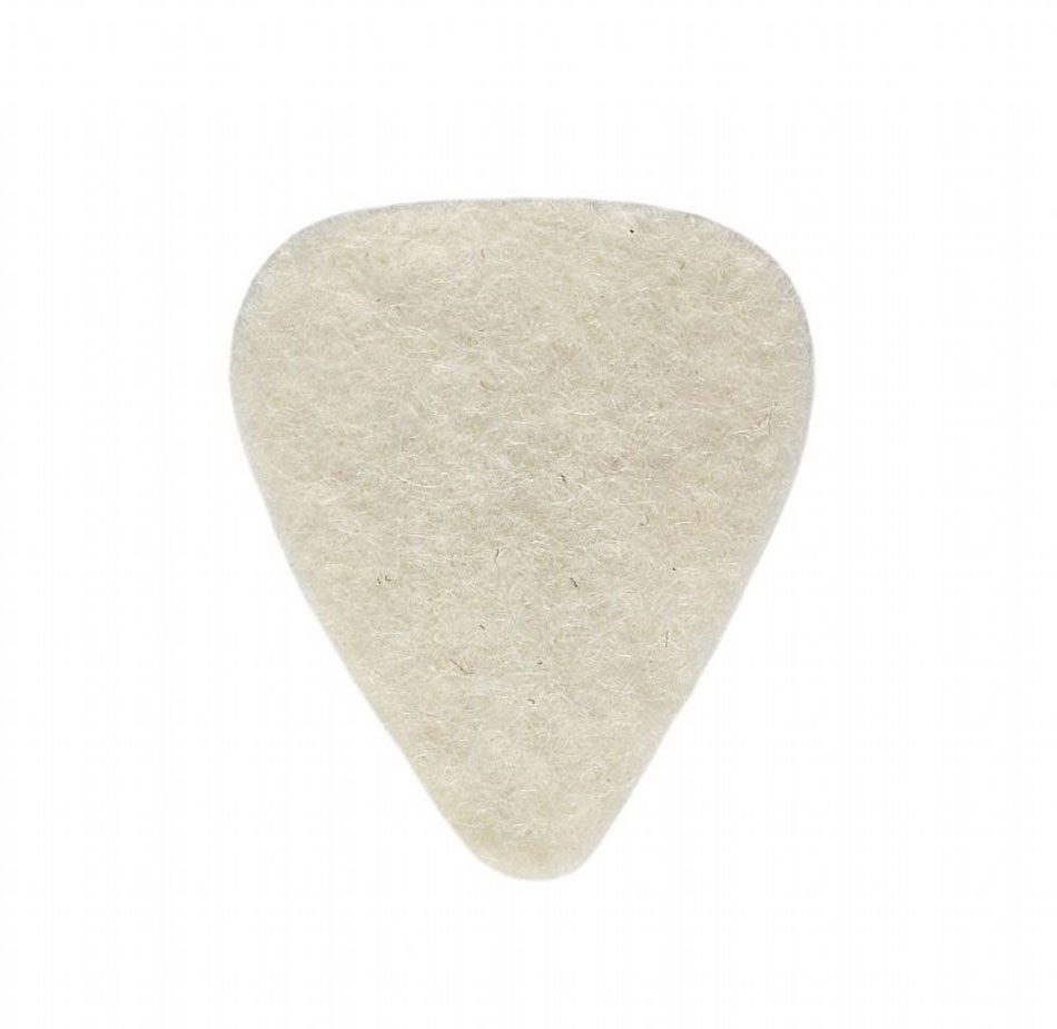 Timber Tones Natural Wool Felt Single Pick 4mm thick, ideal for ukulele & bass guitar.