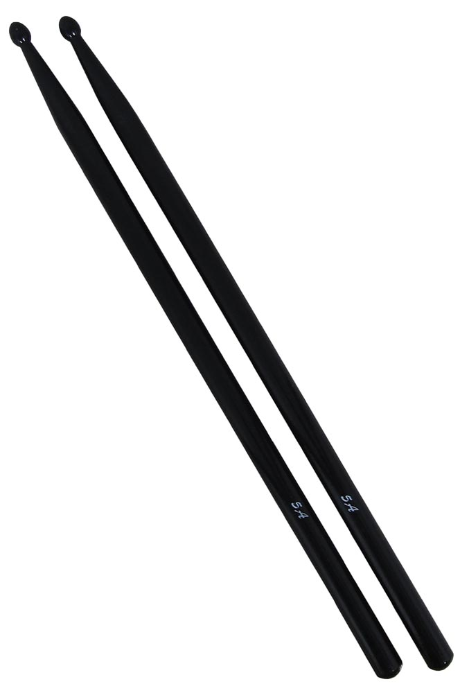 Atlas 5A Black Drum Sticks, Wood Tip 43mm long, 15mm thick, average weight 40g. 1 Pair