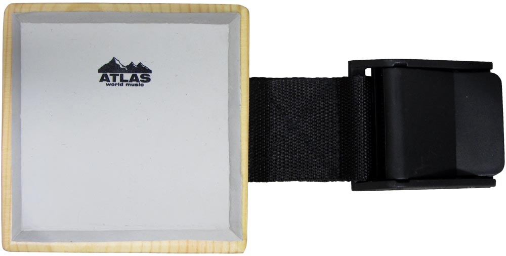 Atlas Freestyle Practice Drum Pad A 8.5cm x 8.5cm practice drum pad designed to strap to your leg