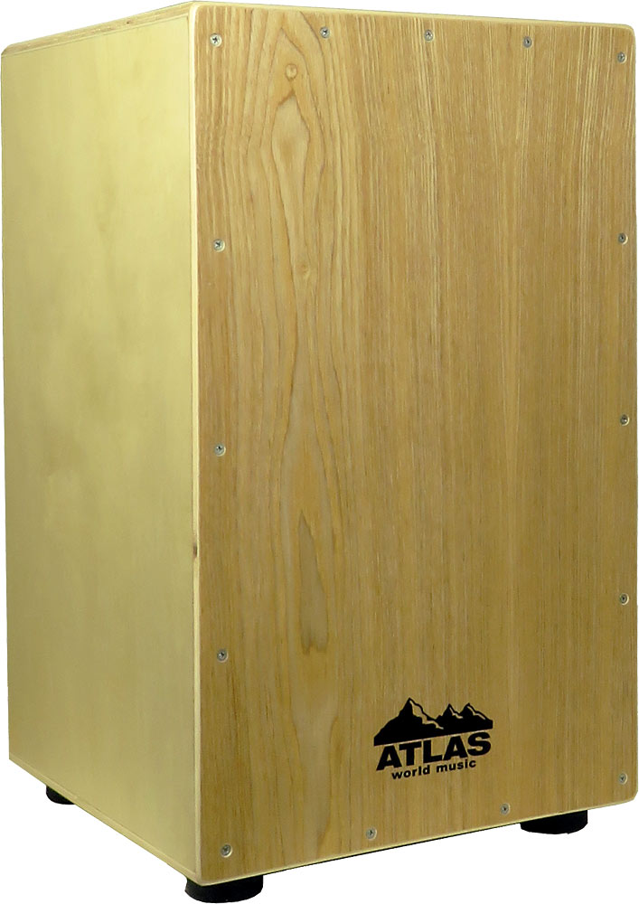 Atlas Cajon, Light Front Plate Light coloured fully adjustable front plate and tuneable snares