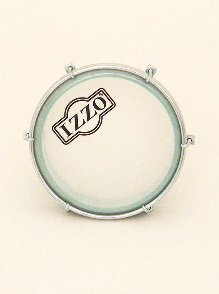 Izzo Tamborim 6 Lug, Black Nylon Body 6