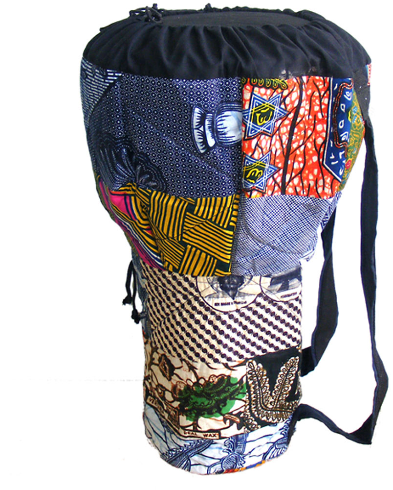 Bucara Bag for 11inch Djembe Padded Cloth Colours Vary, Padded head protector
