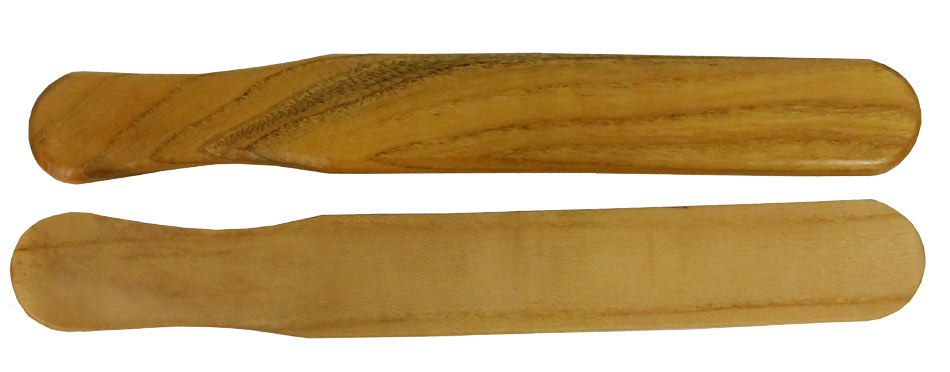 Atlas Mulberry Wood Bones, Pair Thick, shaped bones with a good loud sound. Fairly thick, shaped for easy hold