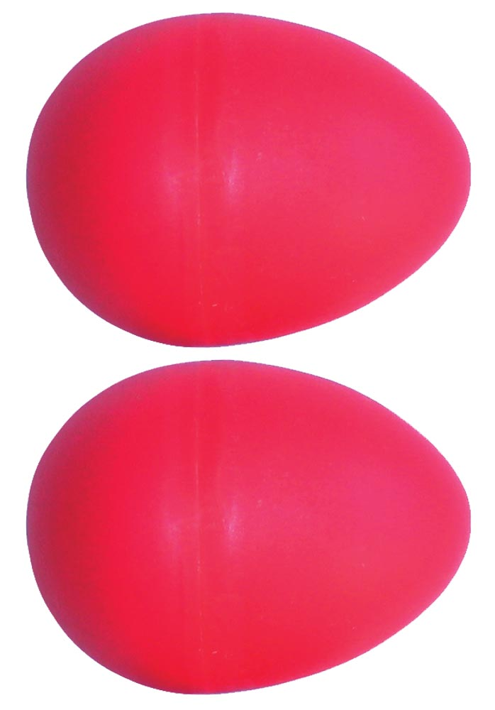 Atlas Pair of Shaky Eggs, Red Pair of plastic 20g shaky eggs. Fun, portable percussion!