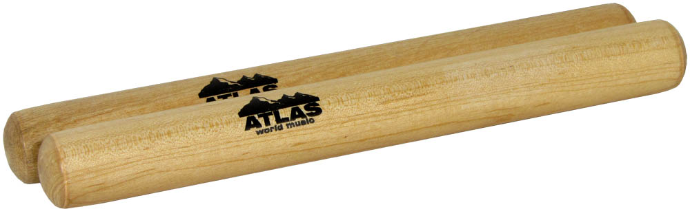 Atlas Small Claves, Wooden Light coloured solid wooden claves.
