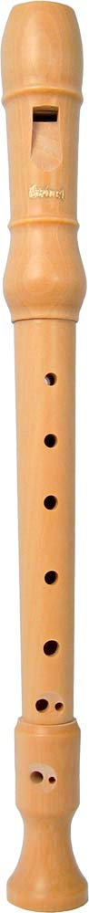 Meinel Descant Recorder, Maple Wood Natural maplewood finish wooden Recorder in 3 parts, in cloth bag
