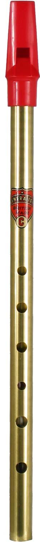 Blue Mouthpiece Feadog Brass D Irish Tin Penny Whistle