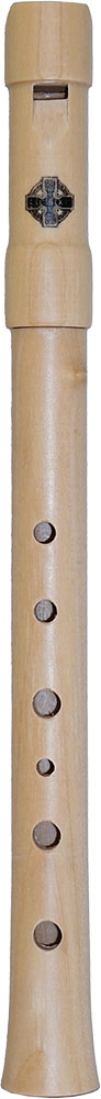 Glenluce Wooden High D Whistle, Tuneable High D tuneable whistle made from maple wood with bag