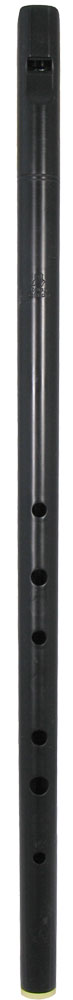 Tony Dixon Low D Whistle, One Piece Tapered bore low D whistle, made from black plastic.