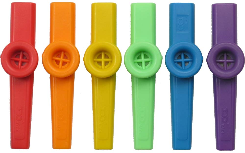 Atlas Plastic Coloured Kazoo Single Brightly coloured kazoo in a choice of 6 colours.