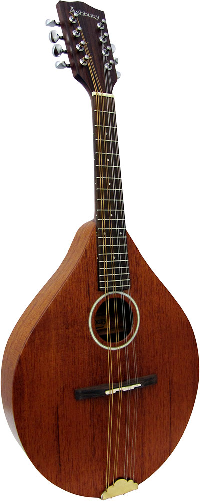 Ashbury A Style Mandolin, Solid Sapele Solid Sapele top, back and sides. Sapele neck with hardwood fingerboard..