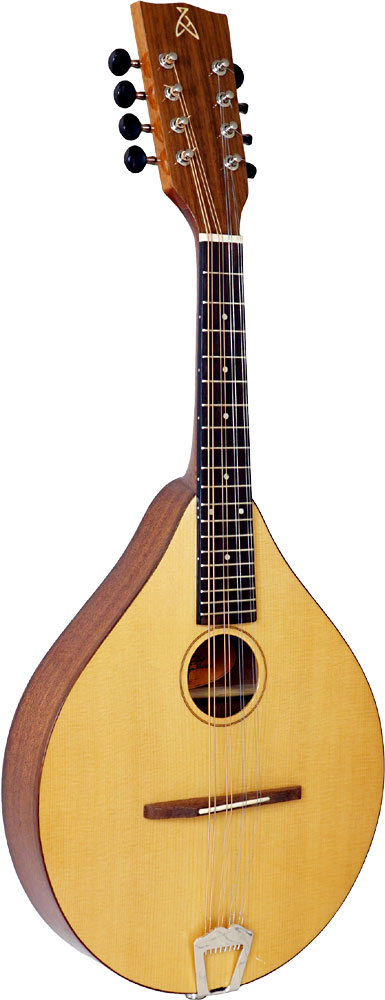 Ashbury Celtic Mandolin, Solid Spruce Solid Alaskan Sitka Spruce top, sapele body, designed by Phil Davidson.