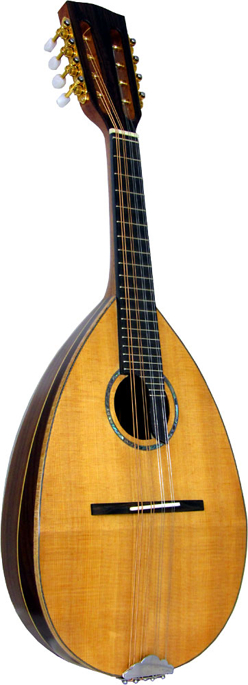 Ashbury Bowl Back Mandolin Solid spruce top with 11 Senna Siamea ribs. Maple binding and rib strips.