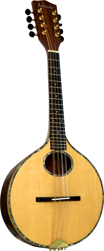 Ashbury Iona Mandolin Solid spruce top, solid rosewood back and sides. Onion shaped body.