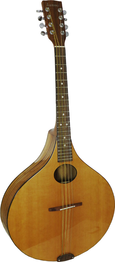 Ashbury Octave Mandola Large onion shaped body. Solid cedar top, solid koa back and sides..