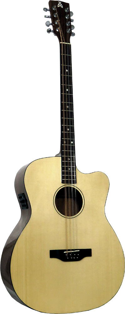 Ashbury Gazouki, Guitar Body Cutaway guitar body with bouzouki neck. Solid Alaskan Sitka Spruce top,