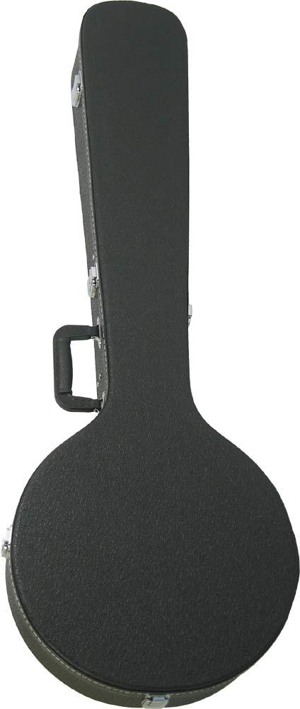 Ashbury Standard Bouzouki Case Multi-ply hardwood, black leather-look, chrome hardware, plush lined.