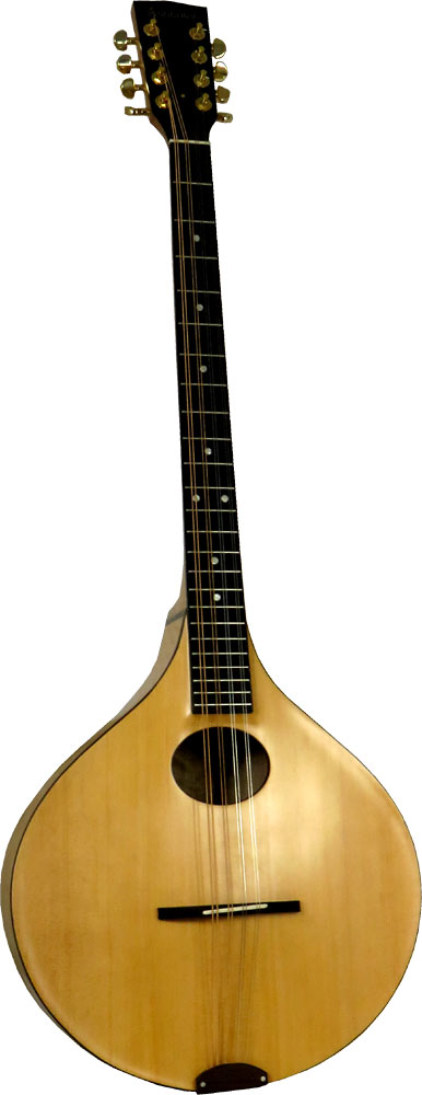 Ashbury Carved Irish Bouzouki Solid carved spruce top with solid carved curly maple back