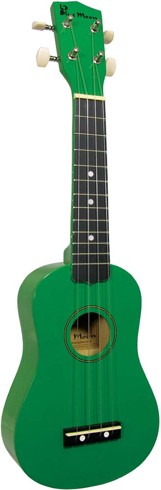 Diamond Head BU02G Soprano Uke Green finish, brilliant value Ukulele! Complete with matching cover