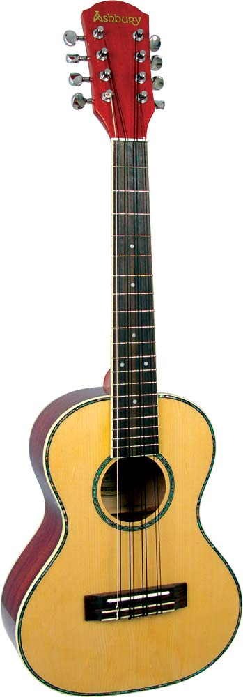 Ashbury Tenor Ukulele, Electro Acoustic 8 string 4 double courses, Electro with EQ. Solid spruce top, sapele body.