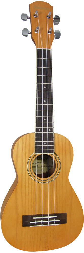 Ashbury Concert Ukulele, Left Handed Concert size. Ash top, back and sides, bound fingerboard, geared tuners