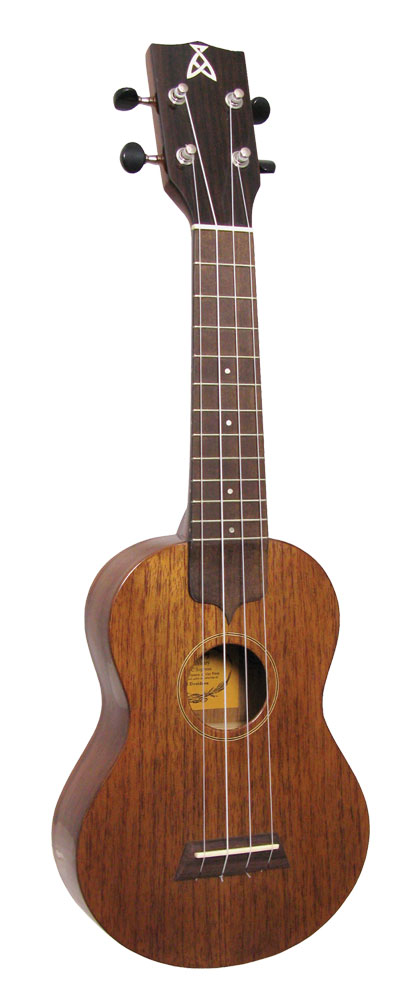 Ashbury Soprano Ukulele, Solid Sapele Solid sapele top, back and sides, hardwood fingerboard, high gloss finish.