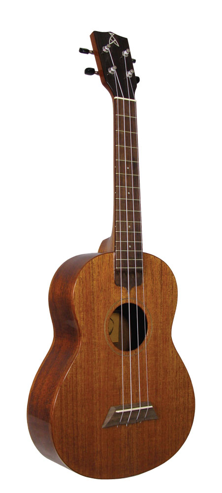 Ashbury Tenor Ukulele, Solid Sapele Solid sapele top, back and sides, hardwood fingerboard, high gloss finish.