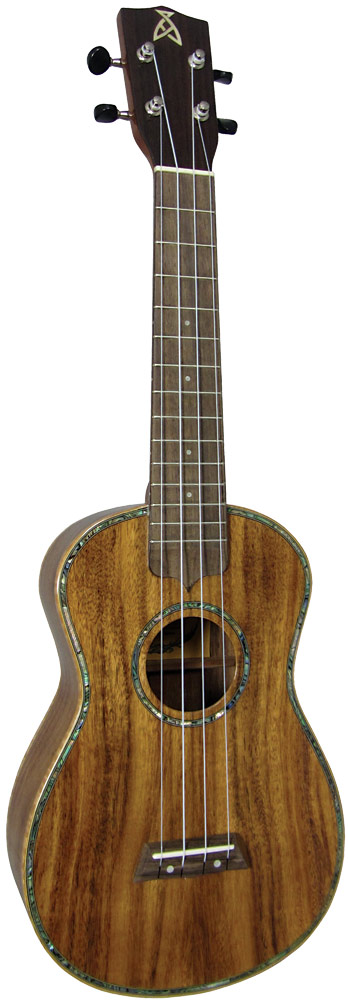 Ashbury Concert Ukulele, Solid Koa Solid koa top, back and sides, hardwood fingerboard with Sapele neck.