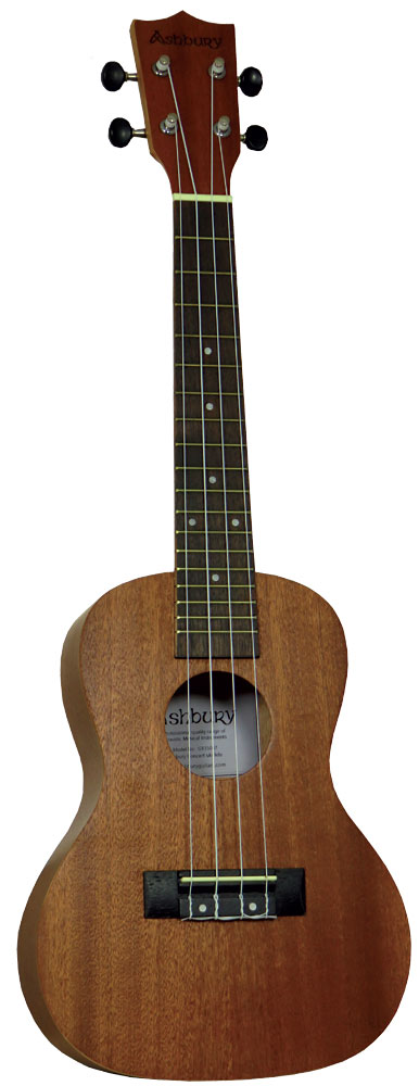 Ashbury Concert Ukulele Mahogany top back and sides. Walnut fingerboard with a mahogany neck