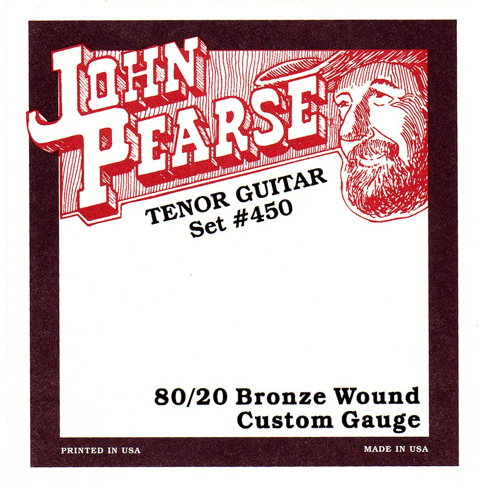 John Pearse Tenor Guitar Strings, Bronze For GDAE tuning, 80/20 Bronze wound, ball ended.