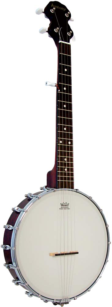 Ashbury 5 String Travel Banjo 19 fret, open back with a mahogany rim and neck. Remo 11inch banjo head..