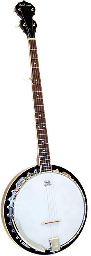 Ashbury 5 String Banjo, Mahogany Rim Aluminium rim, 30 tension hooks, mahogany resonator, 11