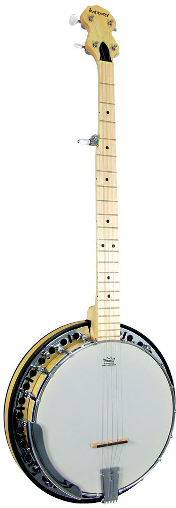 Ashbury 5 string Banjo, Maple Rim Maple series. Maple rim and resonator, rolled brass tone ring, .