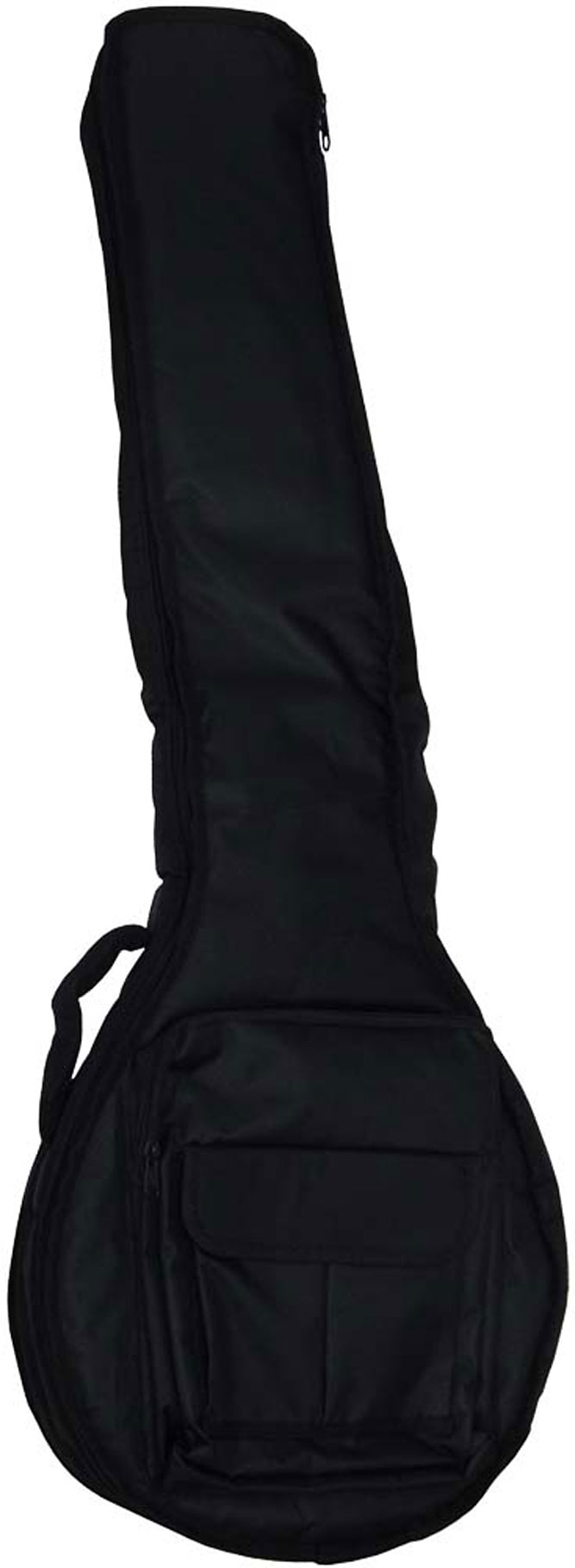 Ashbury Deluxe 5St Open Back Banjo Bag Tough black nylon outer with 20mm padding.