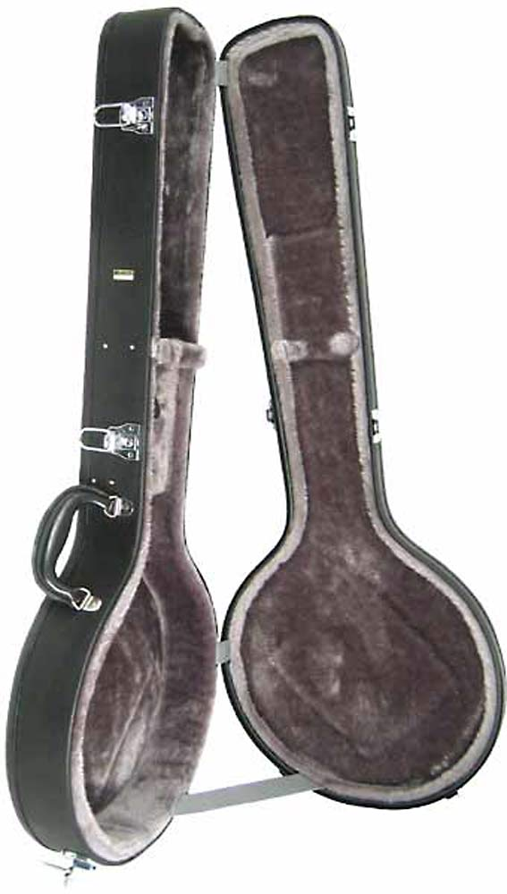 Ashbury Standard Tenor Banjo Case Multi-ply hardwood, black leather-look, chrome hardware..