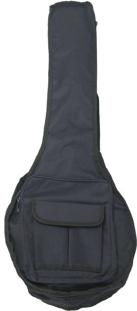 Ashbury Standard Tenor Banjo Bag Black nylon cover with 5mm padding, shoulder straps and external pockets.