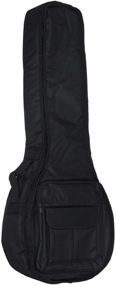 Viking Deluxe 4st OpenBack Banjo Bag Tough 600D black nylon outer with 20mm padding. Plush red lining.