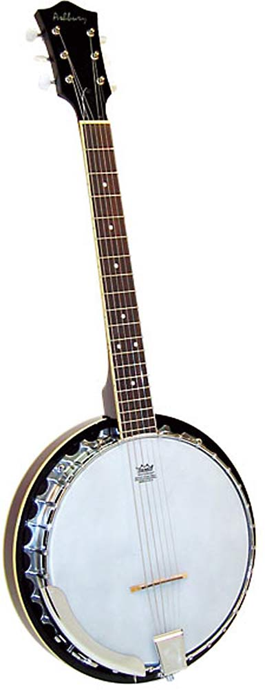 Ashbury 6 String Guitar Banjo, Mahogany Tuned just like a guitar! Mahogany resonator, 11