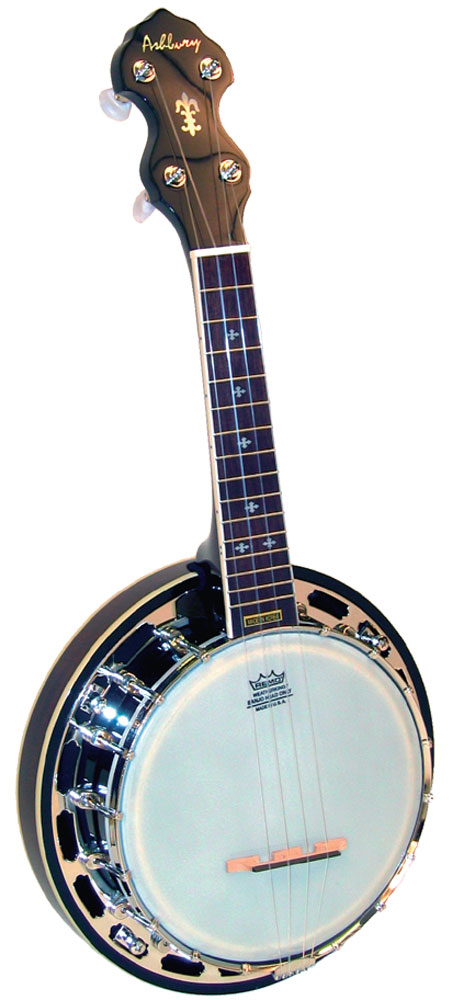 Ashbury Ukulele Banjo, Resonator, Mah High quality banjo, mahogany resonator & rim. brass tone ring, 16 tension hooks.