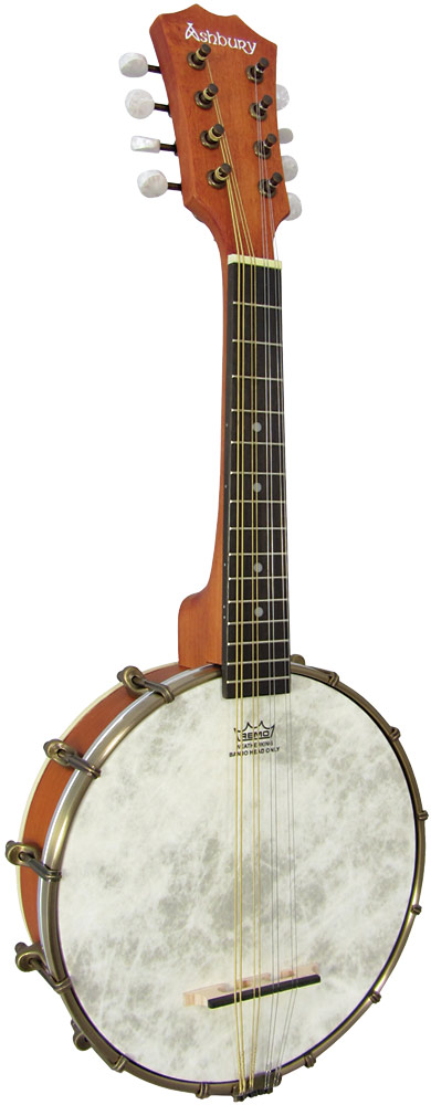 Ashbury Openback Mandolin Banjo Openback with a maple rim and neck..