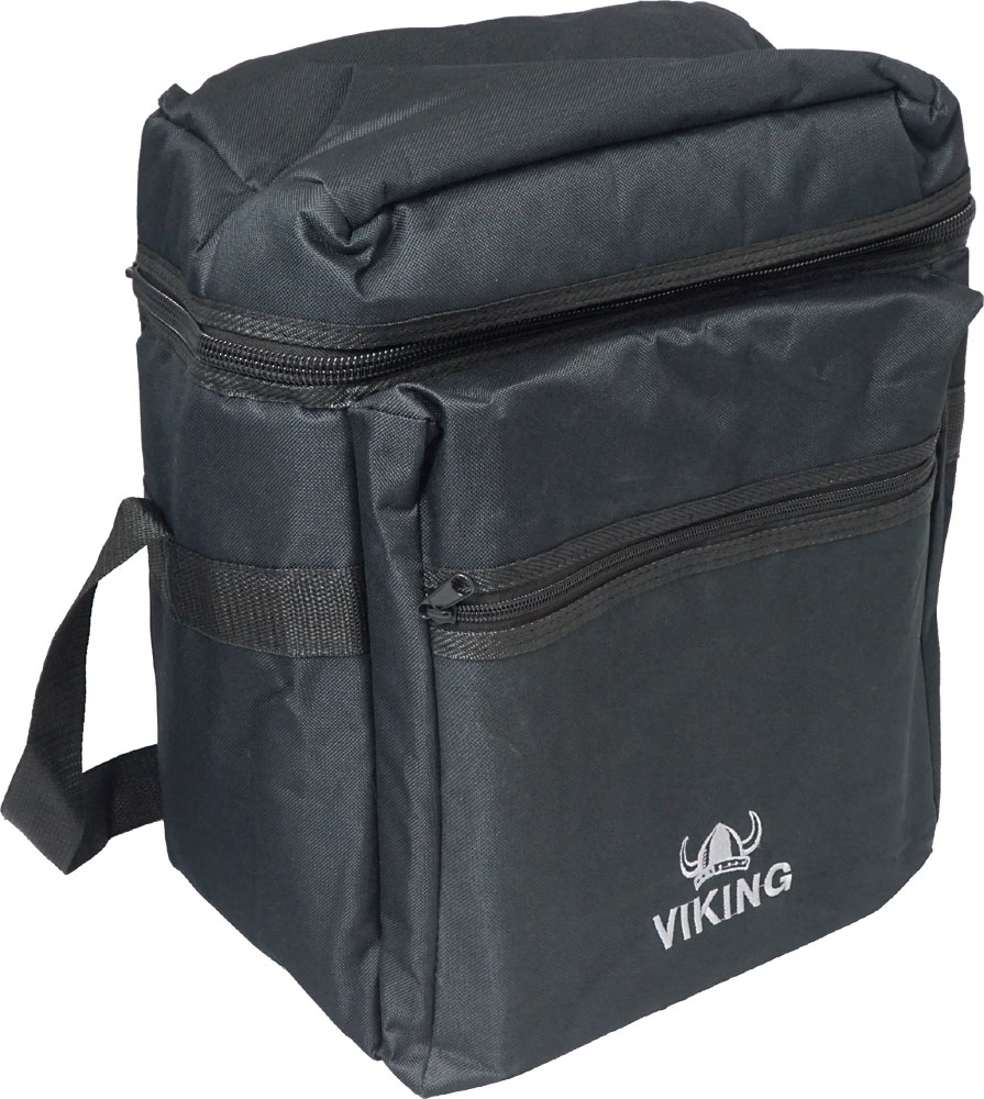 Viking Deluxe Melodeon Carrying Bag Tough 600D black nylon outer with 20mm padding. Plush red lining.