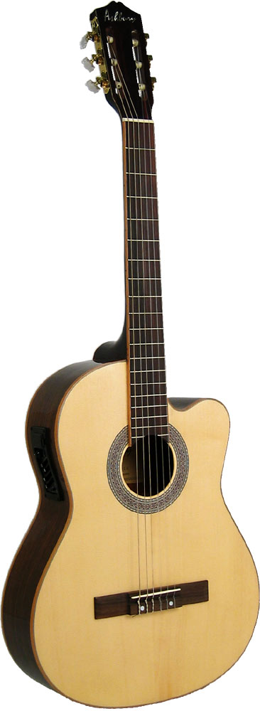 Ashbury Electro Classical Guitar, EQ Classical electro with 4 band EQ, 4/4 size, rosewood body and solid spruce top.