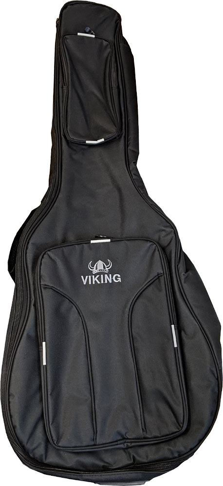 Ashbury Deluxe Classical Guitar Bag Tough black nylon outer with 20mm padding, black & red. Shoulder straps.