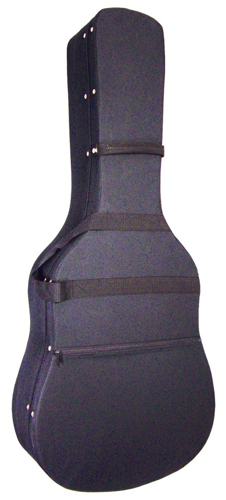 Ashbury Dreadnought Guitar Foam Case High density, lightweight shaped foam, nylon outer, plush lined, shoulder strap