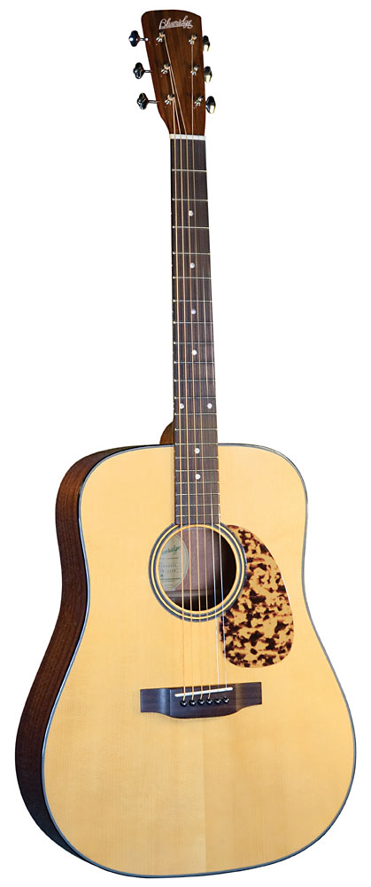 Blueridge Historic Acoustic Guitar Solid Adirondack spruce top with scalloped braces. Dreadnought