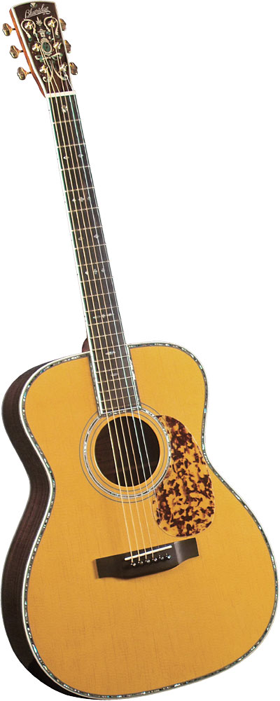 Blueridge Historic OOO Acoustic Guitar Solid sitka spruce top with scalloped bracing. 000 body style.