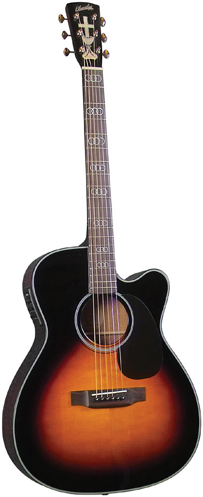 Blueridge Gospel Guitar, Electro Acoustic Electro acoustic with cutaway. Solid Sitka spruce top with a 000 body size.