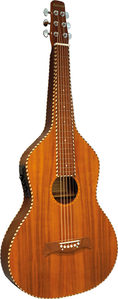 Ashbury Electro Weissenborn Guitar All Koa body, composite wood fingerboard with hollow square neck.